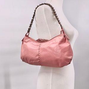 Elliott Lucca Mauve Pink Leather Mini Shoulder Bag